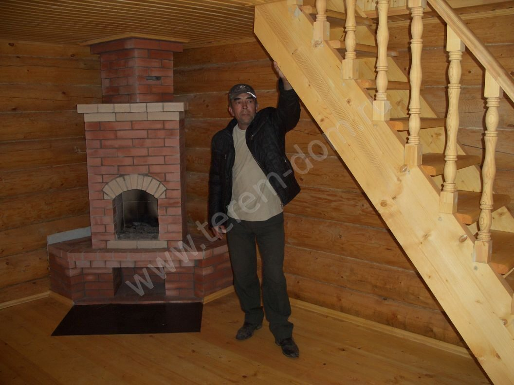 Как сделать камин на втором этаже деревянного дома